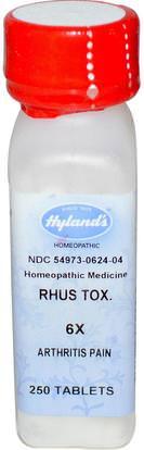 Hylands, Rhus Tox. 6X, 250 Tablets ,والصحة، والتهاب المفاصل، ومكافحة الألم