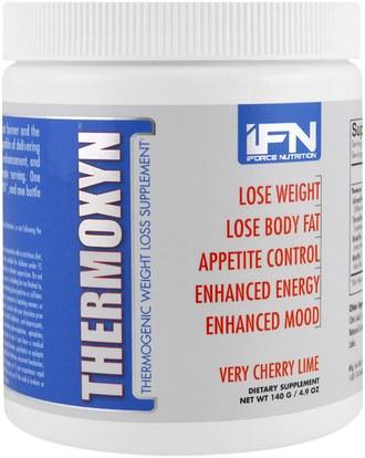 iForce Nutrition, Thermoxyn, Weight Loss Supplement, Very Cherry Lime, 4.9 oz (140 g) ,والرياضة، وفقدان الوزن، والنظام الغذائي، وحرق الدهون