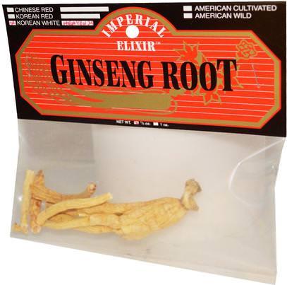 Imperial Elixir, Ginseng Root, Korean White, Heaven 25, 1/2 oz ,المكملات الغذائية، أدابتوغن