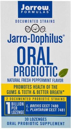 Jarrow Formulas, Jarro-Dophilus, Oral Probiotic, 1 Billion, Natural Fresh Peppermint Flavor, 30 Lozenges ,المكملات الغذائية، البروبيوتيك، استقرت البروبيوتيك