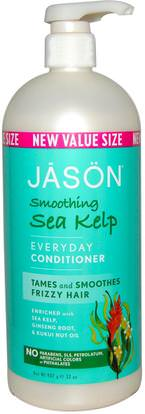 Jason Natural, Everyday Conditioner, Smoothing Sea Kelp, 32 oz (907 g) ,حمام، الجمال، مكيفات، الشعر، فروة الرأس، الشامبو، مكيف