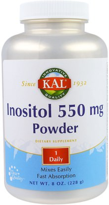 KAL, Inositol 550 mg Powder, 8 oz (228 g) ,الفيتامينات، إينوزيتول