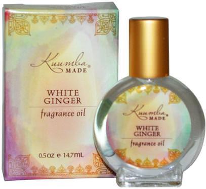 Kuumba Made, Fragrance Oil, White Ginger, 0.5 oz (14.7 ml) ,حمام، الجمال، بخاخ العطر