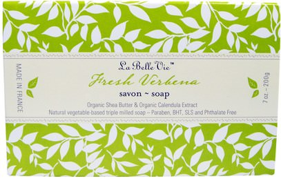 La Belle Vie, Fresh Verbena Bar Soap, 7 oz (200 g) ,حمام، الجمال، الصابون