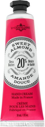 La Chatelaine, Hand Cream, Sweet Almond, 1 fl oz (30 ml) ,حمام، الجمال، كريمات اليد