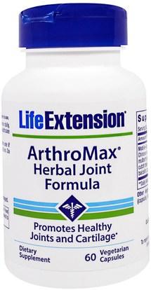 Life Extension, ArthroMax Herbal Joint Formula, 60 Veggie Caps ,والصحة، والعظام، وهشاشة العظام، والصحة المشتركة