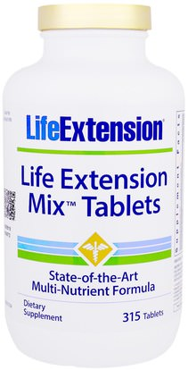 Life Extension, Mix Tablets, 315 Tablets ,الفيتامينات، الفيتامينات