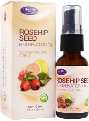 Life Flo Health, Rosehip Seed Rejuvenation Oil, 1 fl oz (30 ml) ,حمام، والجمال، والزيوت العطرية الزيوت، وزيت بذور الورك، والصحة، والجلد، والزيوت العناية بالوجه
