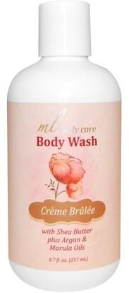 Madre Labs, Body Wash, Crme Brulee, Cleansing with Argan & Marula Oils + Shea Butter, 8.7 fl oz (257 ml) ,حمام، الجمال، أرجان، حمم، مادري، المختبرات، بدن، كير