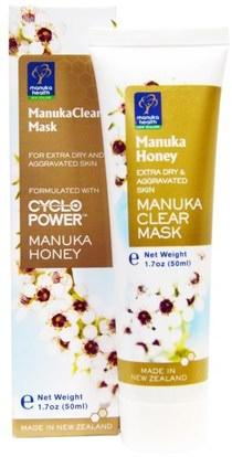Manuka Health, Manuka Honey, ManukaClear Mask, 1.7 oz (50 ml) ,الجمال، أقنعة الوجه، السكر، أقنعة الفاكهة، الصحة، العناية بالبشرة