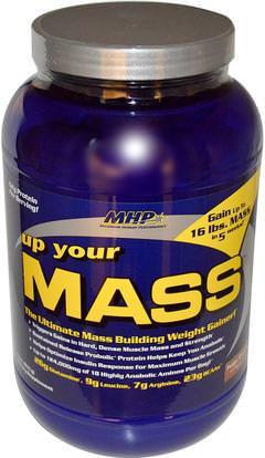Maximum Human Performance, LLC, Up Your Mass, Weight Gainer, Fudge Brownie, 2 lbs (931 g) ,والرياضة، والرياضة، والبروتين