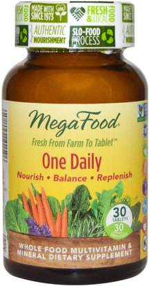 MegaFood, One Daily, 30 Tablets ,الفيتامينات، الفيتامينات