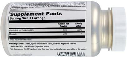 Herb-sa KAL, Melatonin Lozenge, Natural Lemon Flavor, 5 mg, 60 Lozenges