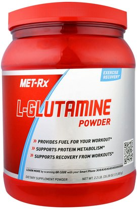 MET-Rx, L-Glutamine Powder, 35.28 oz (1000 g) ,والرياضة، والمكملات الغذائية، ل الجلوتامين