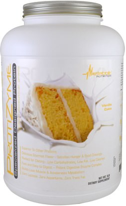 Metabolic Nutrition, ProtiZyme, Specialized Designed Protein, Vanilla Cake, 5 lbs ,والرياضة، والمكملات الغذائية، بروتين مصل اللبن