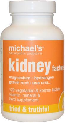 Michaels Naturopathic, Kidney Factors, 120 Veggie Tabs ,الصحة، الكلى