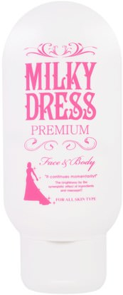 Milky Dress, Premium, Face & Body Cream, 100 g ,الجمال، العناية بالوجه، الكريمات المستحضرات، الأمصال، حمام