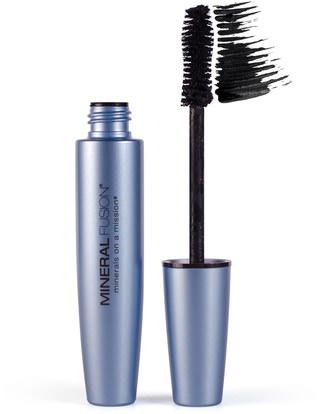 Mineral Fusion, Waterproof Mascara, Raven, 0.57 fl oz (17 ml) ,حمام، الجمال، بنية، ماسكارا