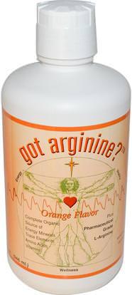 Morningstar Minerals, Got Arginine?, Orange Flavor, 32 fl oz (946 ml) ,المكملات الغذائية، والأحماض الأمينية، ل أرجينين