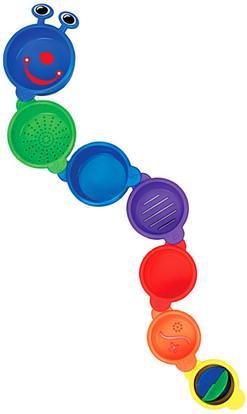 Munchkin, Caterpillar Spillers, 9+ Months, 7 Pieces ,أطفال صحة، أطفال اللعب، حمام اللعب