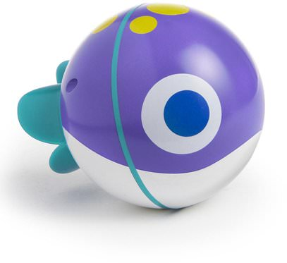 Munchkin, SpinBall, Electronic Swimming Fish Toy, 9+ Months, 1 Toy ,أطفال صحة، أطفال اللعب، حمام اللعب