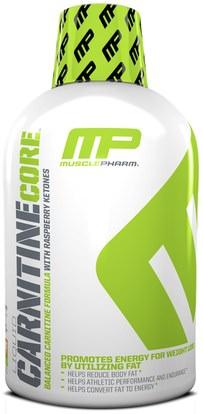 MusclePharm, Liquid Carnitine Core, Citrus, 16 oz (473 ml) ,المكملات الغذائية، والأحماض الأمينية، ل كارنيتين، ل كارنيتين السائل