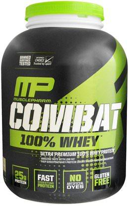 MusclePharm, Sport Series, Combat 100% Whey Protein, Cookies n Cream, 5 lbs (2269 g) ,المكملات الغذائية، بروتين مصل اللبن، والعضلات