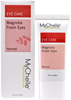 MyChelle Dermaceuticals, Magnolia Fresh Eyes, Normal.5 fl oz (15 ml) ,الصحة، مصل الجلد، الجمال، كريمات العين