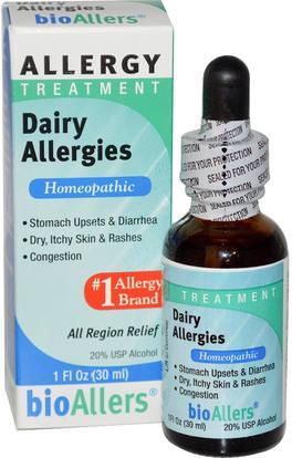NatraBio, bioAllers, Allergy Treatment, Dairy Allergies, 1 fl oz (30 ml) ,والصحة، والحساسية، والحساسية
