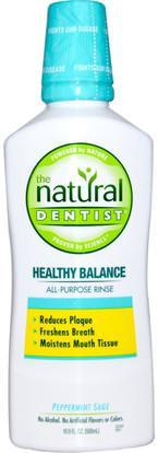 Natural Dentist, Healthy Balance, All-Purpose Rinse, Peppermint Sage, 16.9 fl oz (500 ml) ,حمام، الجمال، شفهي، الأسنان، تهتم، غسول الفم