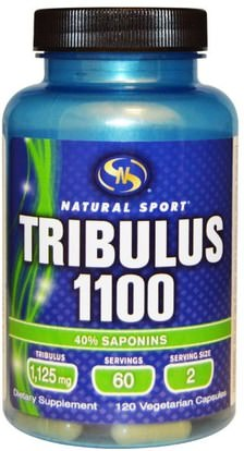 Natural Sport, Tribulus 1100, 120 Veggie Caps ,الرياضة، تريبولوس