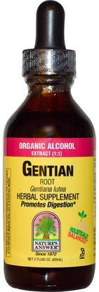 Natures Answer, Gentian, 1,000 mg, 2 fl oz (60 ml) ,الأعشاب، الجنطيان