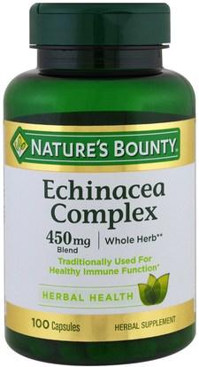 Natures Bounty, Echinacea Complex, 450 mg, 100 Capsules ,المكملات الغذائية، المضادات الحيوية