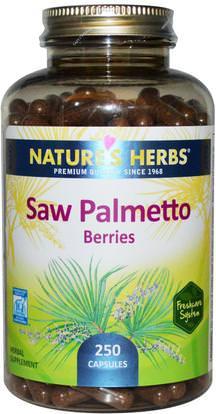 Natures Herbs, Saw Palmetto Berries, 250 Capsules ,الصحة، الرجال