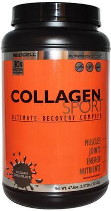 Neocell, Collagen Sport, Ultimate Recovery Complex, Belgian Chocolate, 2.97 lbs (1350 g) ,المكملات الغذائية، بروتين مصل اللبن، والرياضة