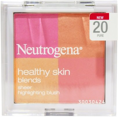 Neutrogena, Healthy Skin Blends, Sheer Highlighting Blush, 20 Pure, 0.30 oz (8.48 g) ,حمام، الجمال، بنية، العناية بالوجه، استحى