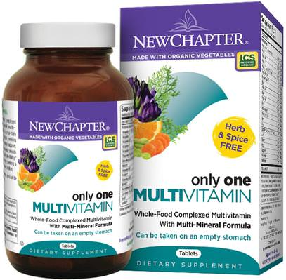 New Chapter, Only One Multivitamin, 72 Tablets ,الفيتامينات، الفيتامينات، الفيتامينات الفصل الجديد
