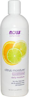 Now Foods, Solutions, Citrus Moisture Conditioner, 16 fl oz (473 ml) ,حمام، والجمال، والمكيفات، والآن الأطعمة حمام، الآن الأطعمة الشامبو، مكيف