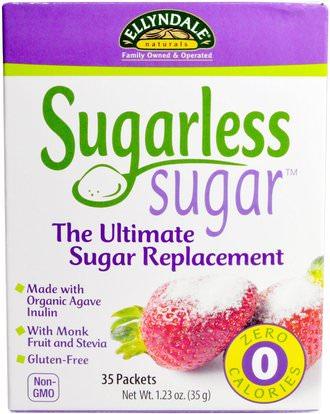 Now Foods, Ellyndale Naturals, Sugarless Sugar, 35 Packets, 1.23 oz (35 g) ,الغذاء، المحليات، ستيفيا الحزم، السكر السكر