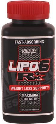 Nutrex Research Labs, Lipo 6 Rx, 60 Liquid Capsules ,والرياضة، والأحماض الأمينية