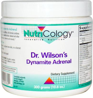 Nutricology, Dr. Wilsons Dynamite Adrenal, 10.6 oz (300 g) ,المكملات الغذائية، الكظرية