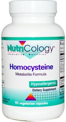 Nutricology, Homocysteine, 90 Veggie Caps ,المكملات الغذائية، تمغ (البيتين اللامائية)