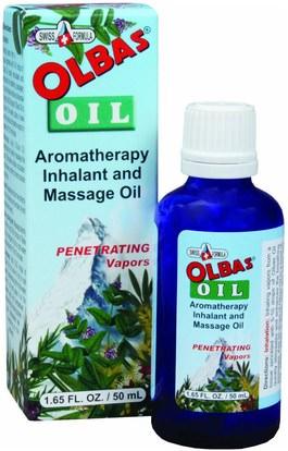 Olbas Therapeutic, Aromatherapy Inhalant and Massage Oil, 1.65 fl oz (50 ml) ,الصحة، الجلد، زيت التدليك
