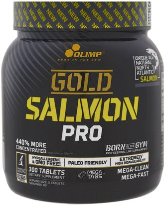 Olimp, Gold Salmon Pro, 300 Tablets ,والرياضة، والمكملات الغذائية، والبروتين