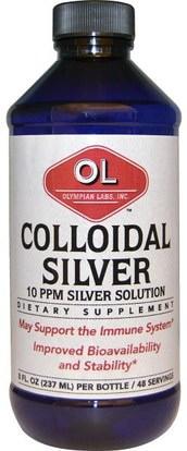 Olympian Labs Inc., Colloidal Silver, 8 fl oz (237 ml) ,والمكملات، والفضة الغروانية