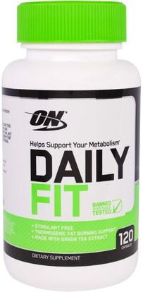 Optimum Nutrition, Daily Fit, 120 Capsules (Discontinued Item) ,المكملات الغذائية، يهز البروتين، والرياضة