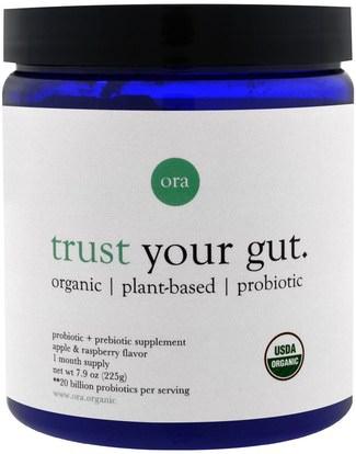 Ora, Trust Your Gut, Apple & Raspberry Flavor, 7.9 oz (225 g) ,المكملات الغذائية، البروبيوتيك