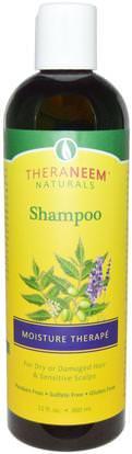 Organix South, TheraNeem Naturals, Shampoo, Moisture Therap, 12 fl oz (360 ml) ,حمام، الجمال، الشعر، فروة الرأس، الشامبو، مكيف