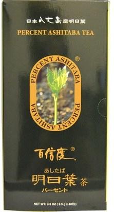Percent Ashitaba, Tea, 40 Tea Bags, 3.5 oz (2.5 g) Each ,الطعام، شاي الأعشاب