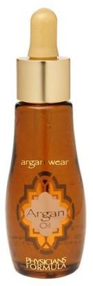 Physicians Formula, Inc., Argan Wear, Argan Oil, 1 fl oz (30 ml) ,حمام، الجمال، زيت أركان، الصحة، الجلد، العناية بالشعر الزيوت